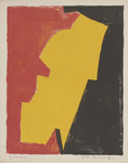Compostion Rouge, Jaune, Noir. Composition Red, Yellow, Black. 1953.
