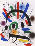 Composition for Miró Lithographe I, No 4. 1972
