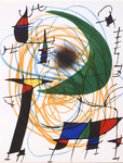 Composition for Miró Lithographe I, No 6. 1972