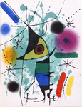 Composition for Miró Lithographe I, No 8