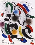 Composition for Miró Lithographe I, No 7. 1972.