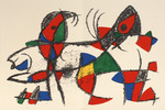 Composition for Miró Lithographe II, No 10