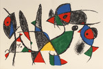 Composition for Miró Lithographe II, No 9. 1975.