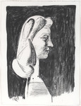 Grand Profil. Large Profile - Portrait of Francoise. 1947.