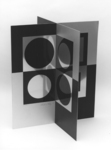 Image Miroir. Mirror Image. Metal three-dimensional Sculpture. 1965.